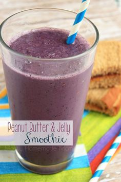 Peanut Butter & Jelly Smoothie - This delicious smoothie tastes just like a PB&J sandwich! Sugar free and dairy free, too! #SilkSipToSpoon #ad