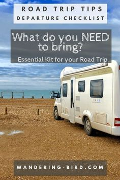 Essential Motorhome Kit for a Road Trip in Europe. What kit do you need to bring for your road trip travels to Europe? Road Trip On A Budget, Road Trip Checklist, Road Trip Planner, Road Trip Packing, Road Trip Europe, Road Trip Games, Road Trip Essentials, Road Trip Usa, Europe Europe