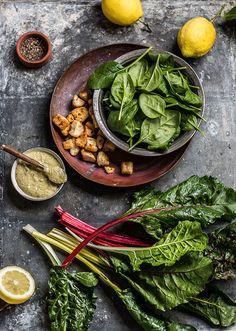 kale 'caesars salad' with roast chicken
