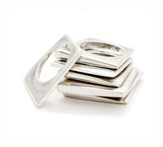 Kristin Victoria Barron's Plate Tectonic stacking rings. #rings #stacking rings $371 *swoon*