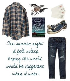 """""""The secrets of the universe"""" by sofiapetronella on Polyvore featuring Hollister Co., UNIF, Converse and Moschino"""