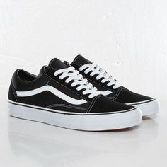Old skool vans. Black/white.