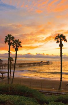 I miss watching the sunset from my bench San Clemente, California