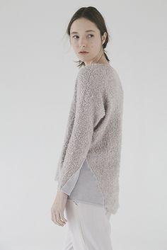 Fuzzy knit + smooth knit sweater K I E L E Y K I M M E L