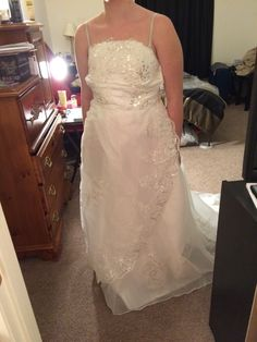 Cool letgo White Wedding Dress in Grandin Road VA
