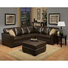Costco Delano Leather Sectional And Ottoman Living Room Sofa Home