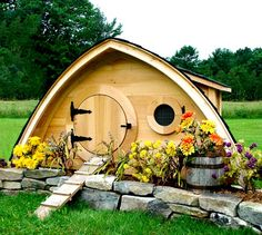 This is almost enough to convinceme to get chickens. Unique Chicken Coops Hobbit Hole Chicken Coop – One Hundred Dollars a Month