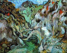 Vincent Van Gogh - Post Impressionism - Saint REMY - Le ravin
