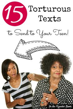 Getting the silent treatment from your moody teen? These 15 torturous texts will change their tune!  parenting | humor | LOLS | funny stuff for moms and dads via @InthePowderRoom
