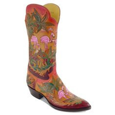 Flamingo Boots!! The Islander from the Boot Corral.