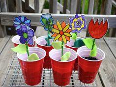 cute flower garden crafts