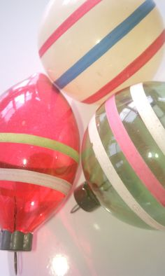 Vintage Striped, yes many are from WWII and some I have have brown paper because metal was needed for the war.  There is an interesting history in the collecting of ornaments over the years.