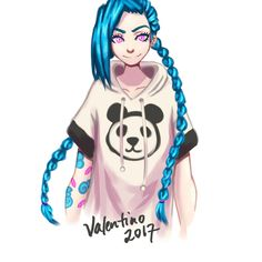 Panda Jinx by RikaValentine on @DeviantArt