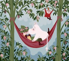 flowers shelters - Or just avril or gaël Moomin Wallpaper, Les Moomins, Rick And Morty Time, Moomin Valley, Chicken Crafts, Tove Jansson, Cat Dad, Little My, Fauna