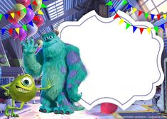 Monsters Inc Invitation Template Free Awesome Free Printable Monster Inc Invitation Template – Free Monsters Inc Invitations, Monster Birthday Invitations, Monster Inc Birthday, Monster Inc Party, Free Printable Party Invitations, Free Invitation Templates, Bolo Toy Story, Childrens Party, Monsters University