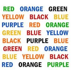 Try reading the color that these words are written in out loud and see what happens - it'll slow down your speediest of readers.