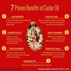 Proven benefits of castor oil