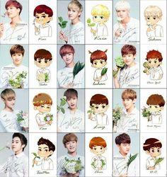 tao and chens look nice:P Tao Exo, Chanyeol Baekhyun, Exo Cartoon, Exo Anime, Exo 12, Exo Fan Art, Exo Lockscreen, Fanarts Anime, Exo Members