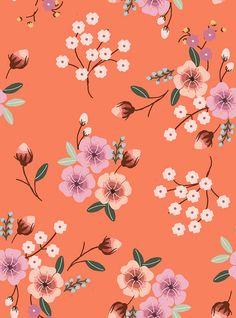 32 Ideas for flowers background patterns floral illustrations Flower Backgrounds, Flower Wallpaper, Pattern Wallpaper, Oriental Print, Oriental Pattern, Illustration Blume, Pattern Illustration, Surface Pattern Design, Pattern Art