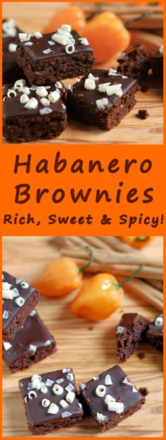 Rich chocolate brownies with a hint of cinnamon and a spike of habanero heat.