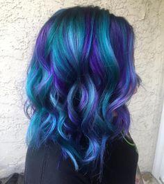 Mermaid Hair using Pulp Riot hair color