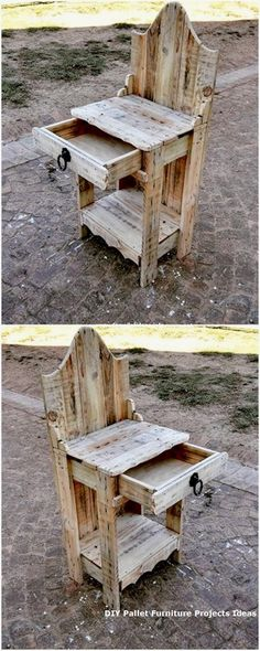 Use Pallet Wood Projects to Create Unique Home Decor Items Wooden Pallet Furniture, Wooden Pallets, Rustic Furniture, Diy Furniture, Pallet Wood, Furniture Online, Luxury Furniture, Modern Furniture, Pallet Chairs