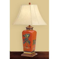 "JB Hirsch 27"" Tropical Porcelain Table Lamp"