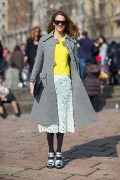 Street Style Fall 2014 Trends - Fashion Week Fall 2014 Street Style Trends