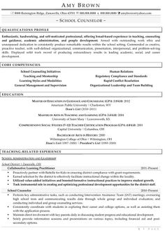 Professional School Counselor Resume | School Counselor 1.1