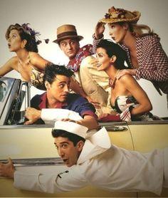 Jennifer Aniston, Courteney Cox, Lisa Kudrow, Matt LeBlanc, Matthew Perry, and David Schwimmer in Friends
