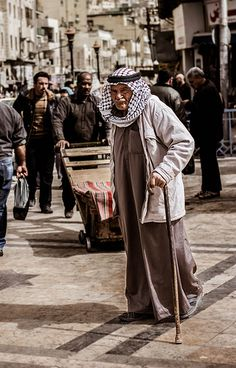 Curious Old Man . Amman Jordan