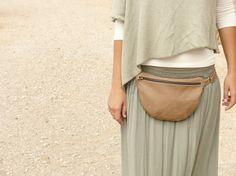 Leather Fanny Pack brown Waist bag hip bag brown by Nubuckcuir