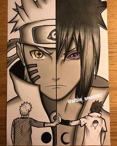 Naruto y Sasuke Naruto Uzumaki Shippuden, Naruto Kakashi, Anime Naruto, Sakura Anime, Naruto Eyes, Naruto Fan Art, Gaara, Boruto, Anime Fan Art