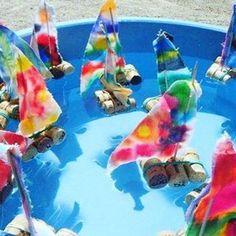 Een mooi zelf gemaakt schip van kurk bij Kinderopvang OOK in Apeldoorn ⛵️#knutselen #piraten #bso #buitenschoolseopvang #kinderopvang #kinderdagverblijf #apeldoorn #pirates #ship #kidscrafts #crafting #creatief