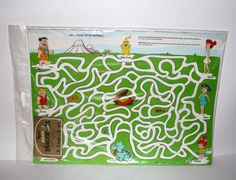 Vintage 1980 FLINTSTONES GAME PLACEMATS 8 by PeppermintandCocoa, $6.50