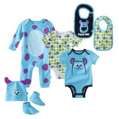 Disney Newborn Boy's Monsters Inc. Blue Collection