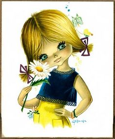 """I just love the classic """"Big Eyed Art"""" of the 60's and 70's."""
