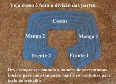 AS RECEITAS DE CROCHÊ: TABELA DE TAMANHOS DAS PALAS PARA CASACOS E VESTIDOS PARA BEBÊ