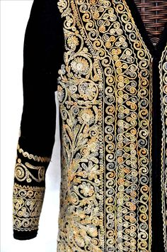 Gold embroidered jacket , wool with silver and gold from Afghanistan or Pakistan early 20th c  ( Singkiang archives sold )