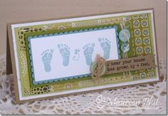 my oldest's birth announcements were a play on this sentiment (2 feet)!  ♥ it