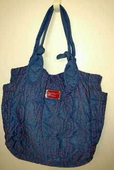 Marc by Marc Jacobs Standard Supply Workwear Nylon Tote Shoulder Bag Blue #MarcbyMarcJacobs #TotesShoppers