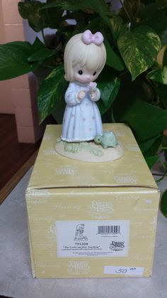 Precious Moments 034 The Lord Can Dew Anything 034 795208 Girl with Flower Amp Turtle | eBay