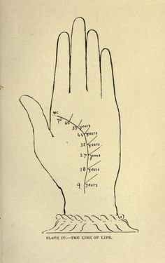 Plate IV. The line of life. Indian palmistry. 1895.