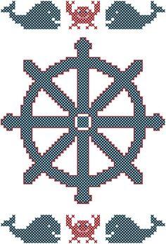 #nautical #crossstitch #pattern #diy #nauticalnursery