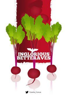 Inglorious Betteraves #UnLegumeDansUnFilm #Florette #Veggister