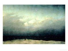 Munken ved havet, 1809 Giclée-tryk af Caspar David Friedrich på AllPosters.dk