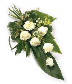 Funeral Sprays are a popular tribute expressing sympathy. Double ended Sprays sometimes referred to as Casket Sprays are often used to adorn a Casket with great splendour.