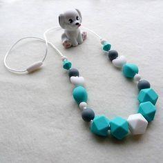 miskajulo / Silikónový dojčiaci nosiaci kojaci náhrdelník Maťko