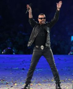 GM likes leather and he lookes damn good in it.  London 2012