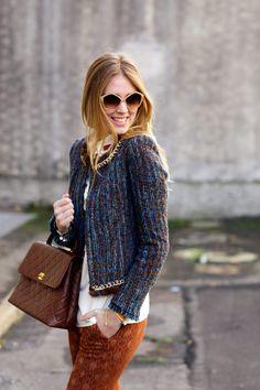 The Blonde Salad - tweed jacket